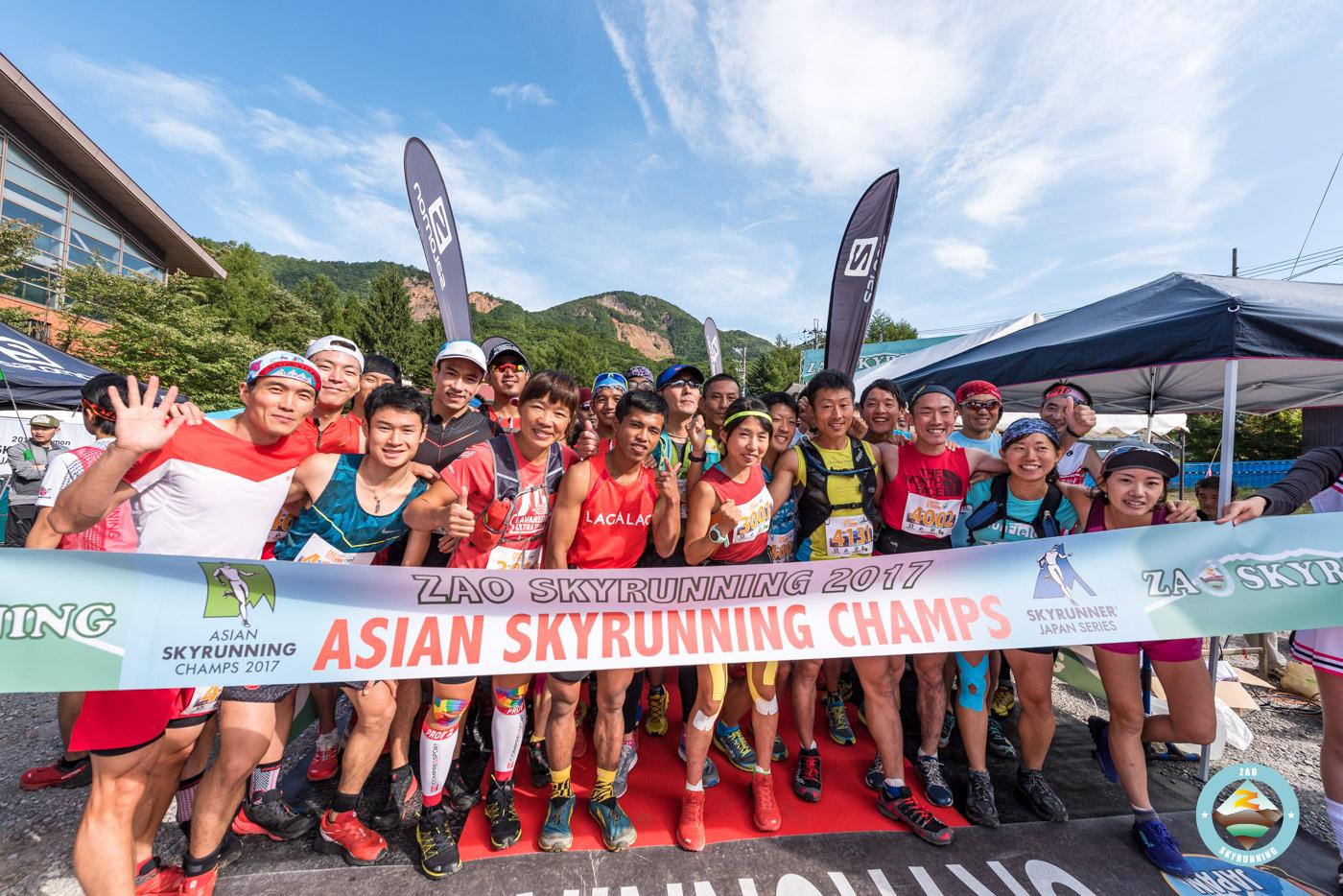 9カ国からの参加者を迎えインターナショナルなレースとなった 🄫ZAO SKYRUNNING