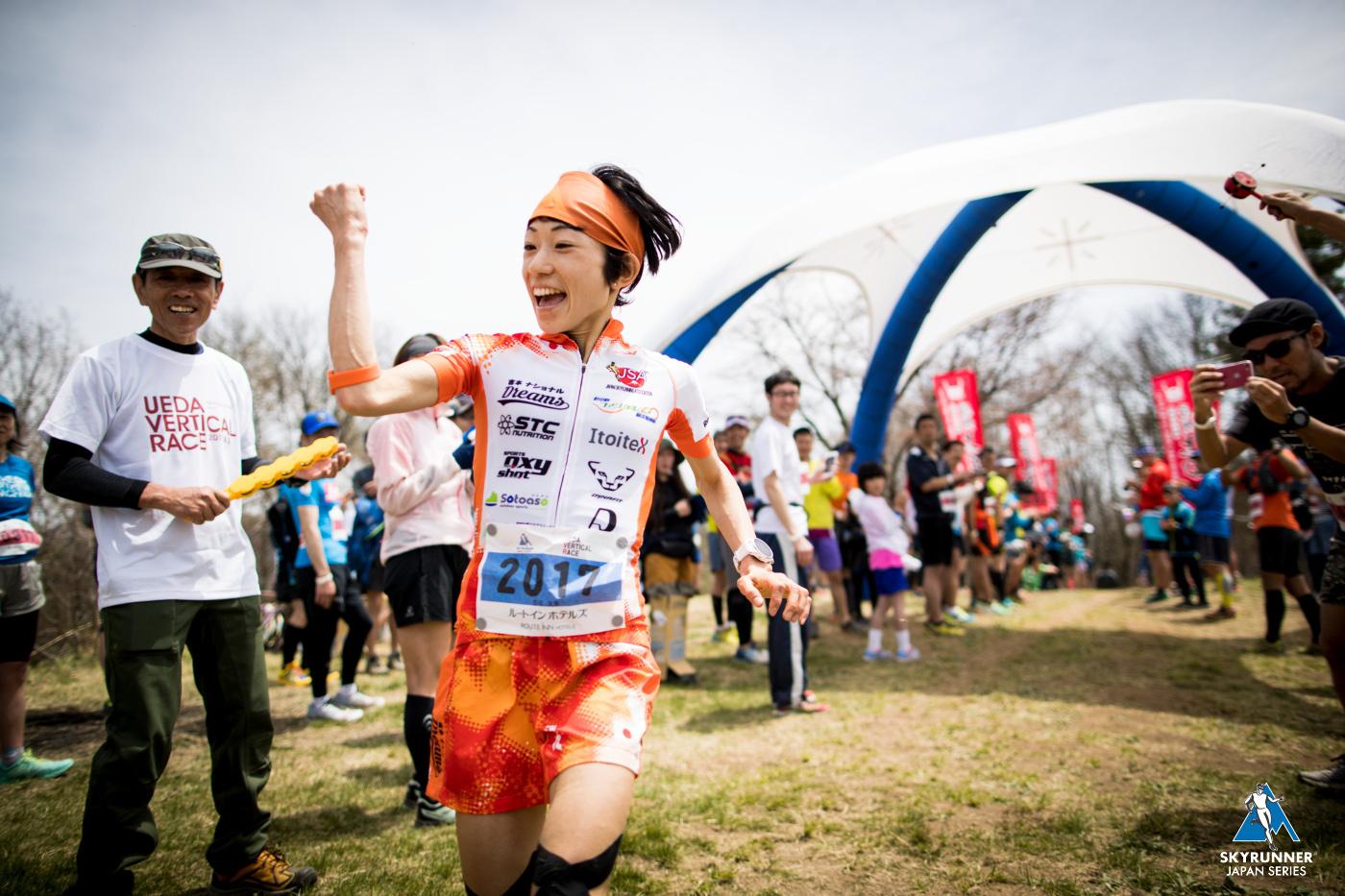上田バーティカルから6連勝中の吉住 🄫Ueda vertical race