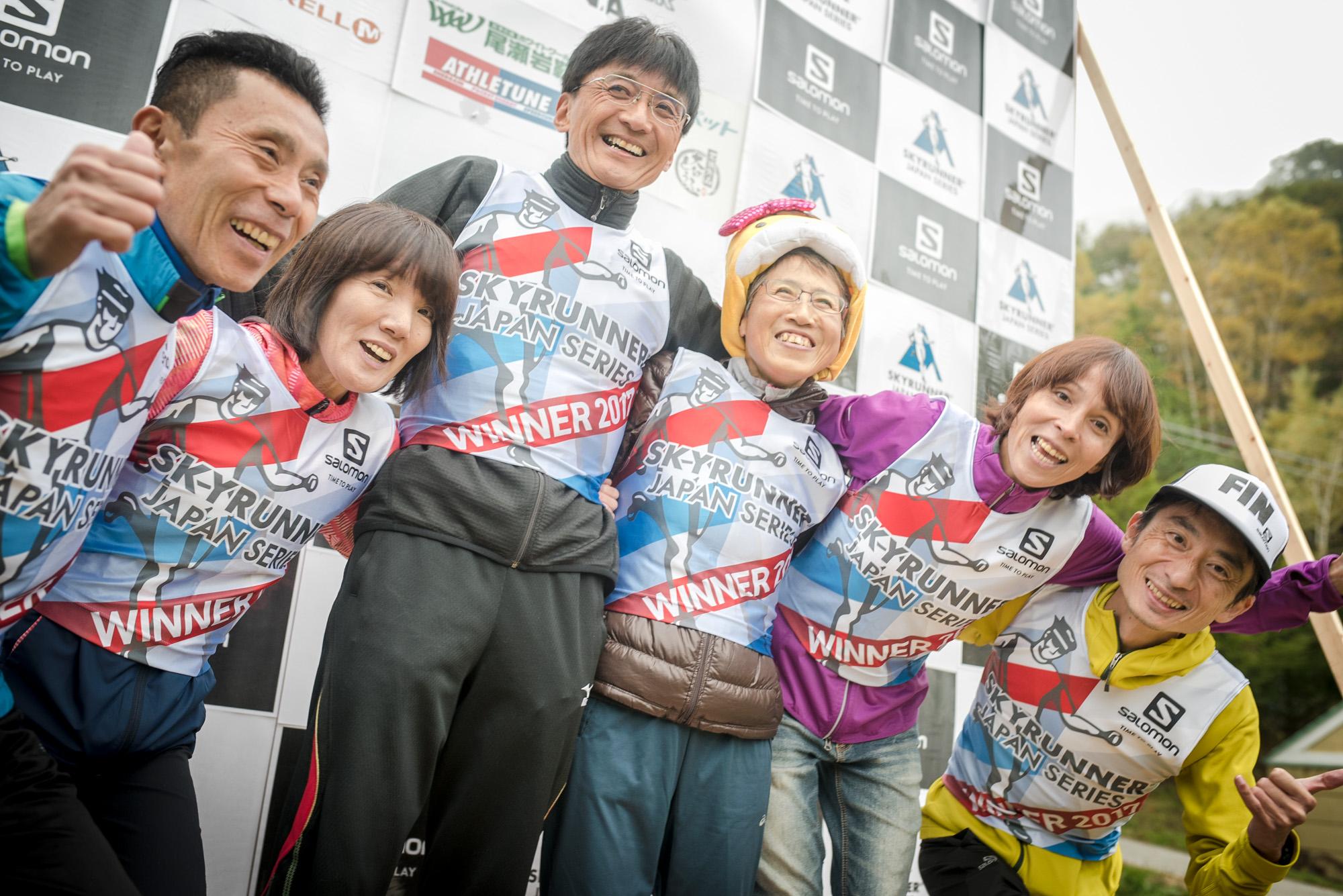 マスターズのチャンピオンたち!! 左から内田、高村、宮下、須藤、小川、今井 🄫Oze Iwakura VK