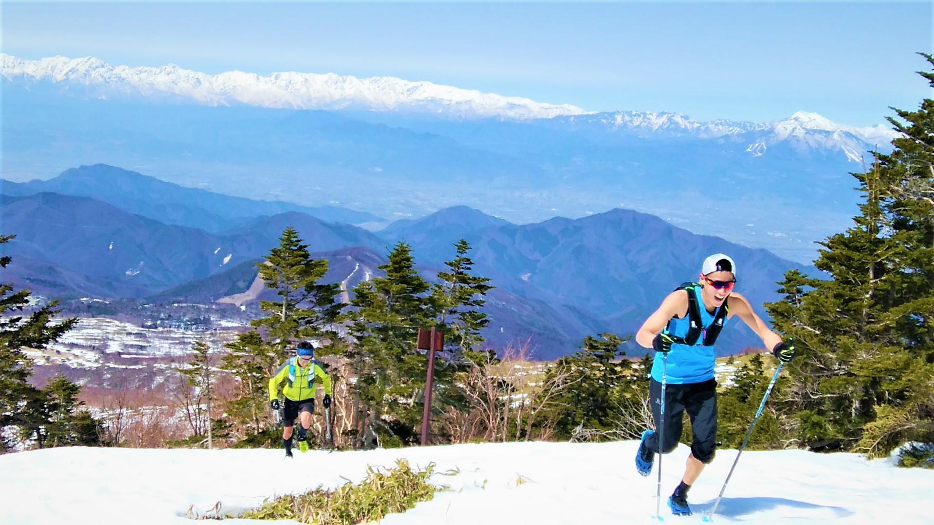 根子岳山頂へラストスパート!!