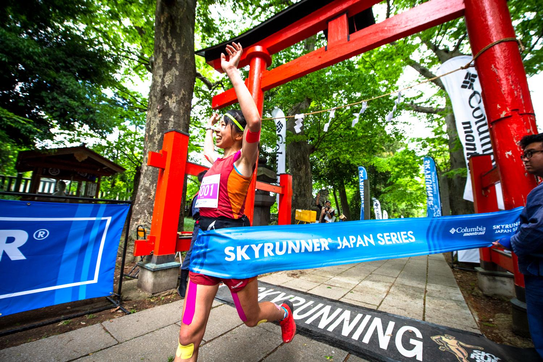 終始、リードして自分との戦いとなったアジア女王・高村貴子 ©UEDA VERTICAL RACE/NAGI MUROFUSHI
