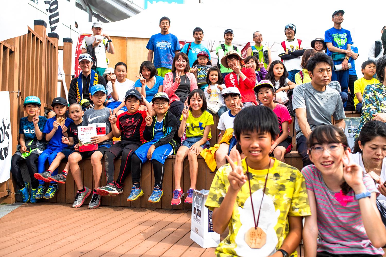 子どもたちの参加者が年々増えてきている ©UEDA VERTICAL RACE/NAGI MUROFUSHI