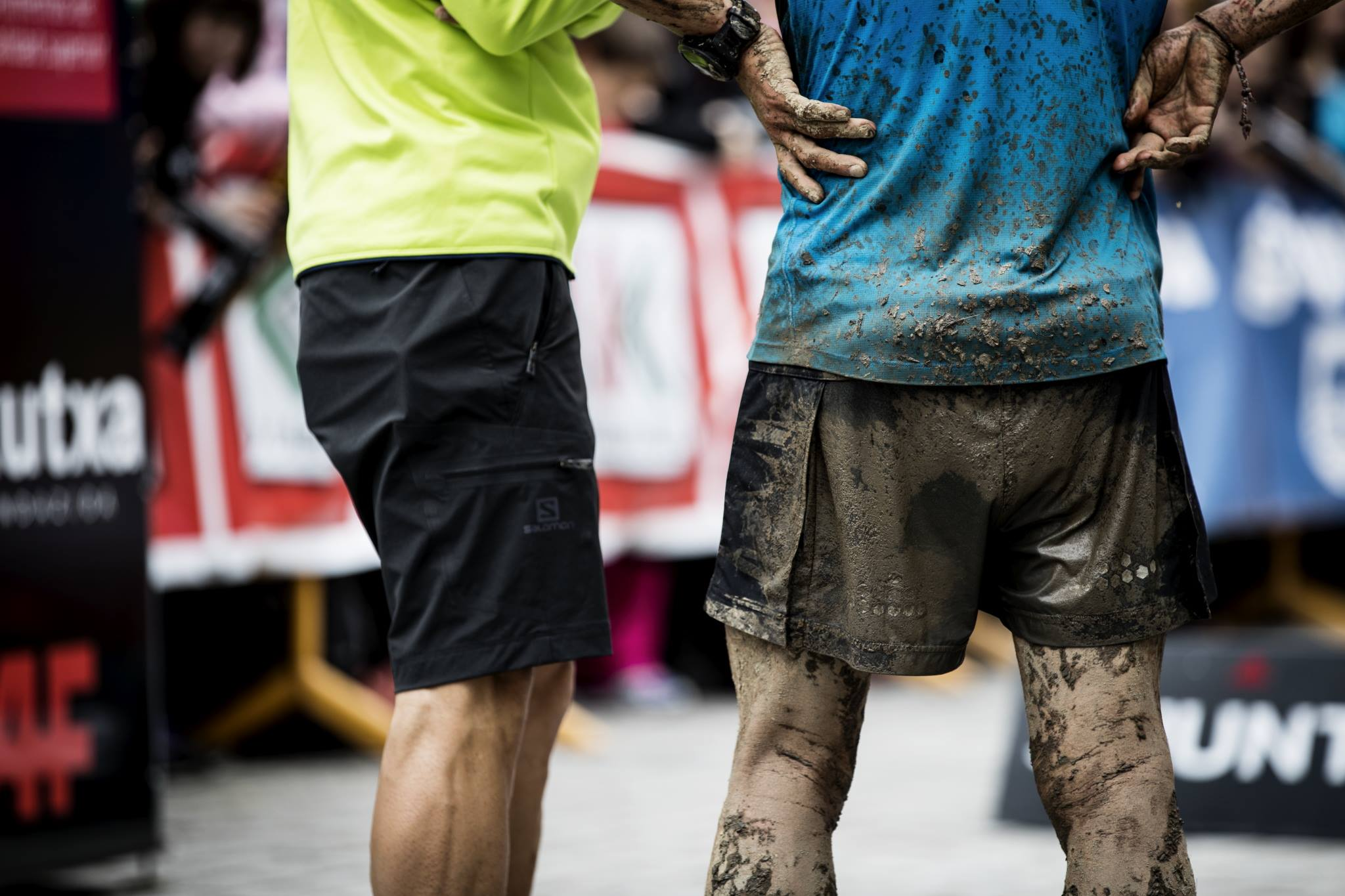 脚に付いた泥はランナーへの勲章である ©Columbia Montrail