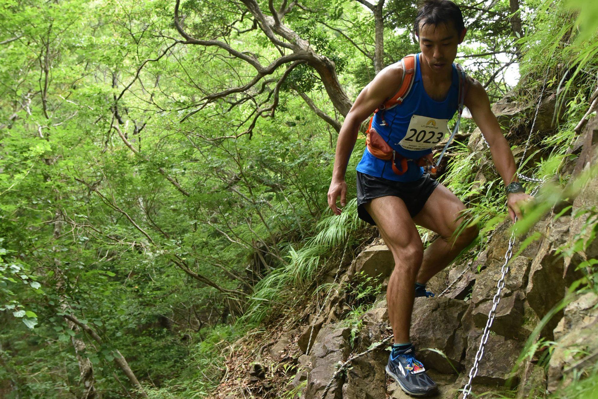 終盤に猛烈な追い上げを見せた細木 ©北丹沢12時間山岳耐久レース