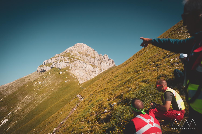 この岩山の山頂を選手たちは目指した ©Nagi Murofushi