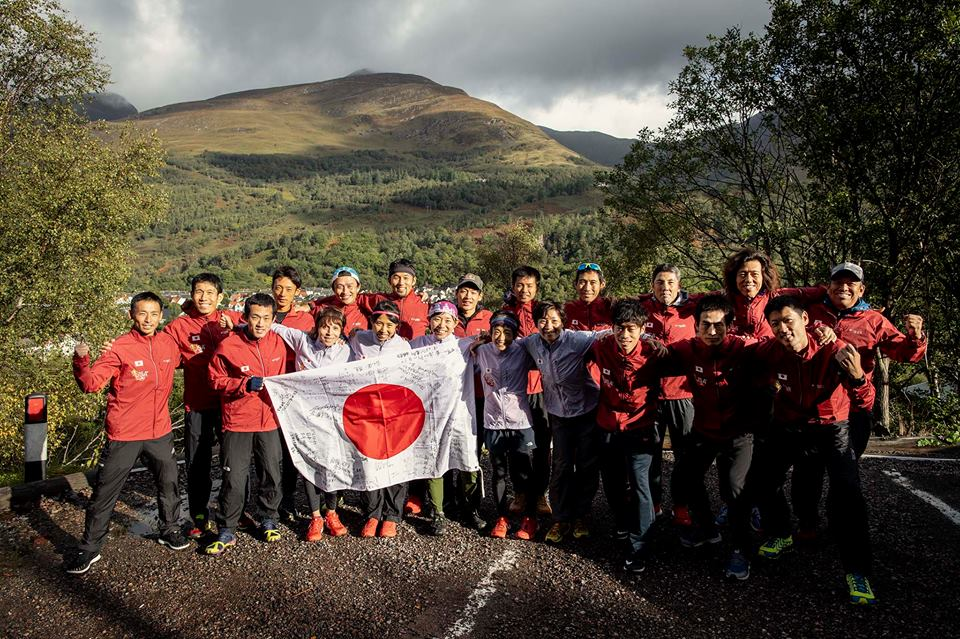 スコットランドの地に勢ぞろいした日本代表チーム ©Sho Fujimaki