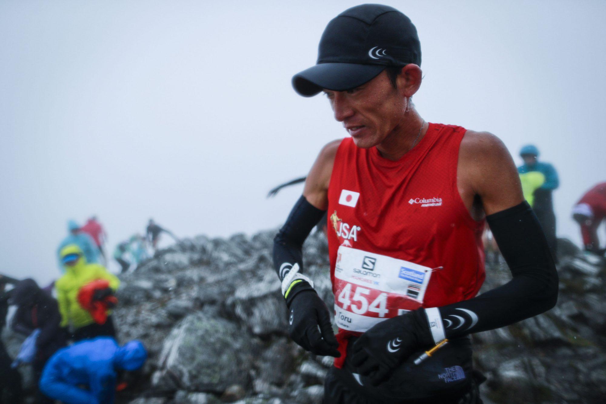 7位入賞を果たした宮原だが、ゴール後は1時間ほどスタッフのテントで待機して体温を取り戻してから下山した ©Sho Fujimaki