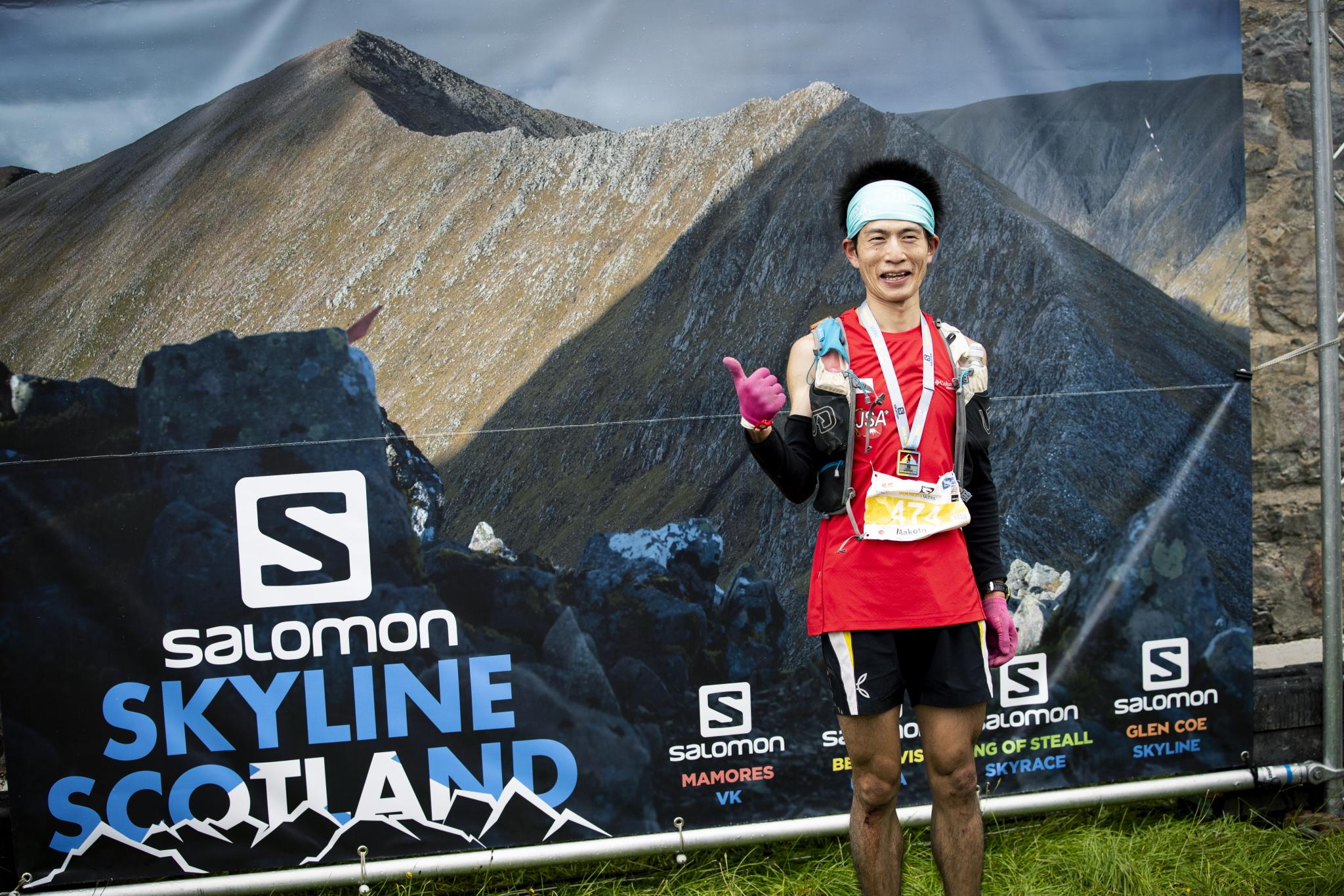 世界戦初出場の矢嶋だが、この日のために山岳練習を積み重ねてきた成果が出た ©Sho Fujimaki