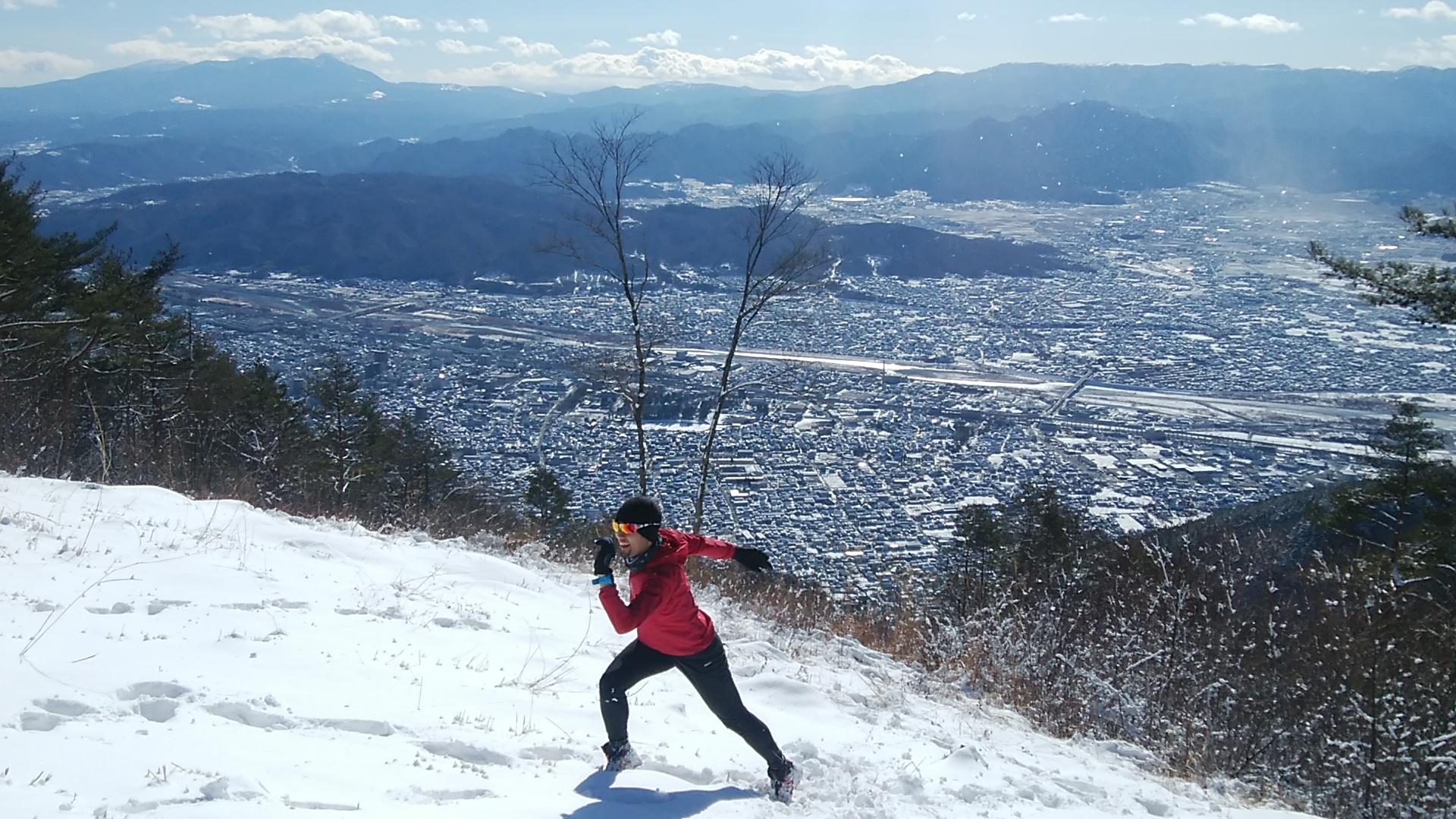 冬の里山登山は実に気持ちよい