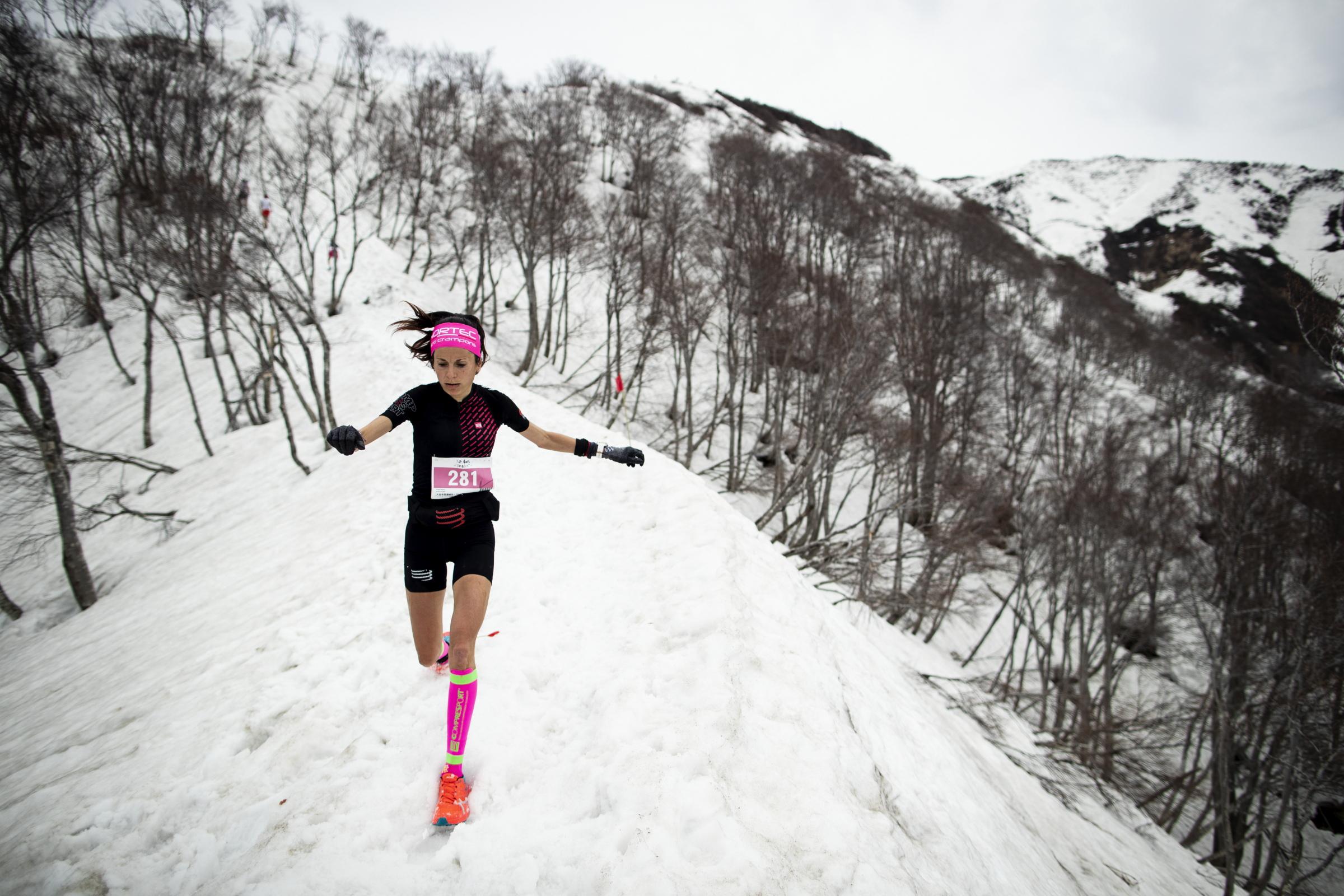 女子優勝のエリサ・デスコの下り ©Sho Fujimaki