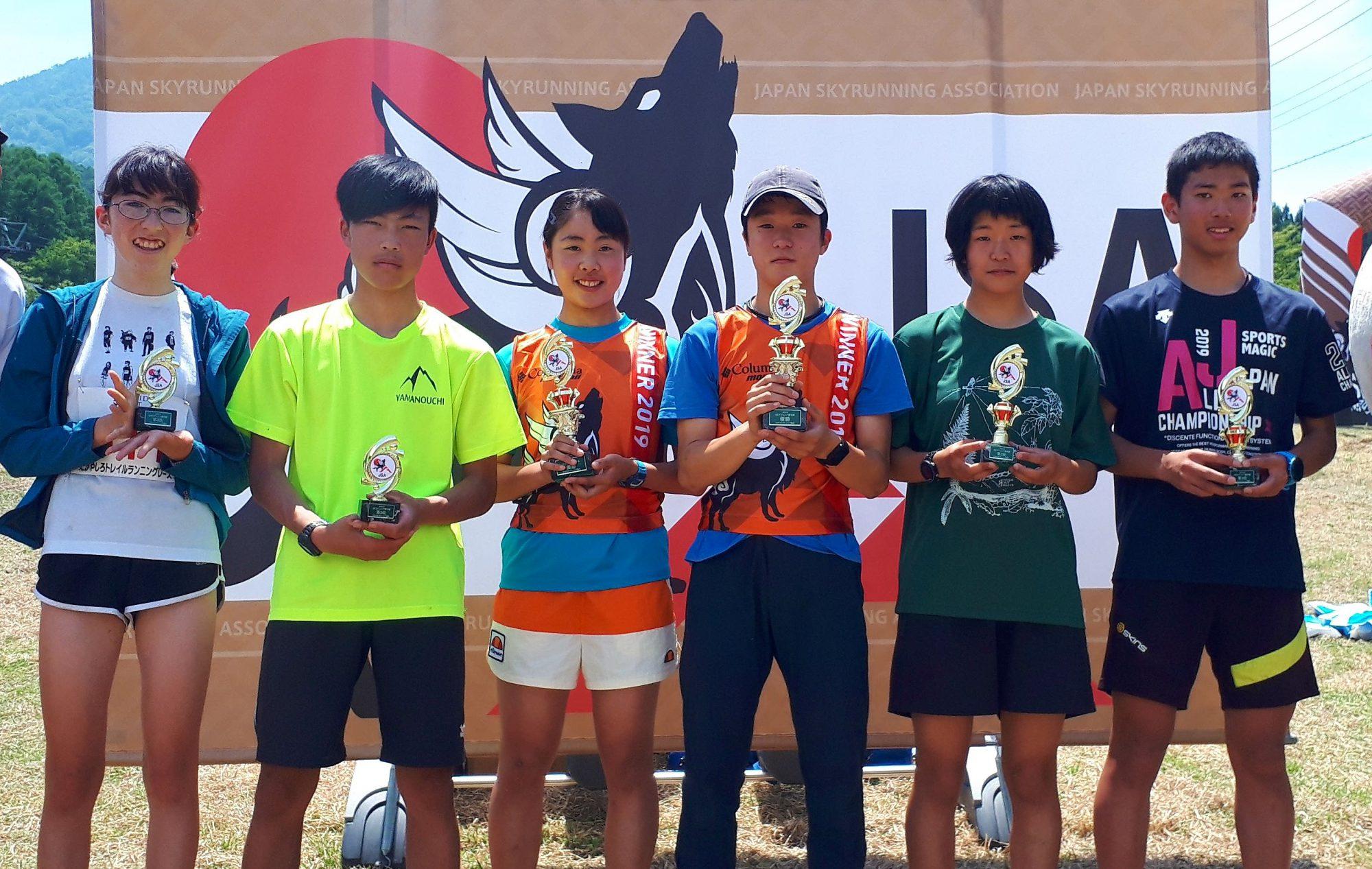 ジュニア選手権・中学生男女トップ3