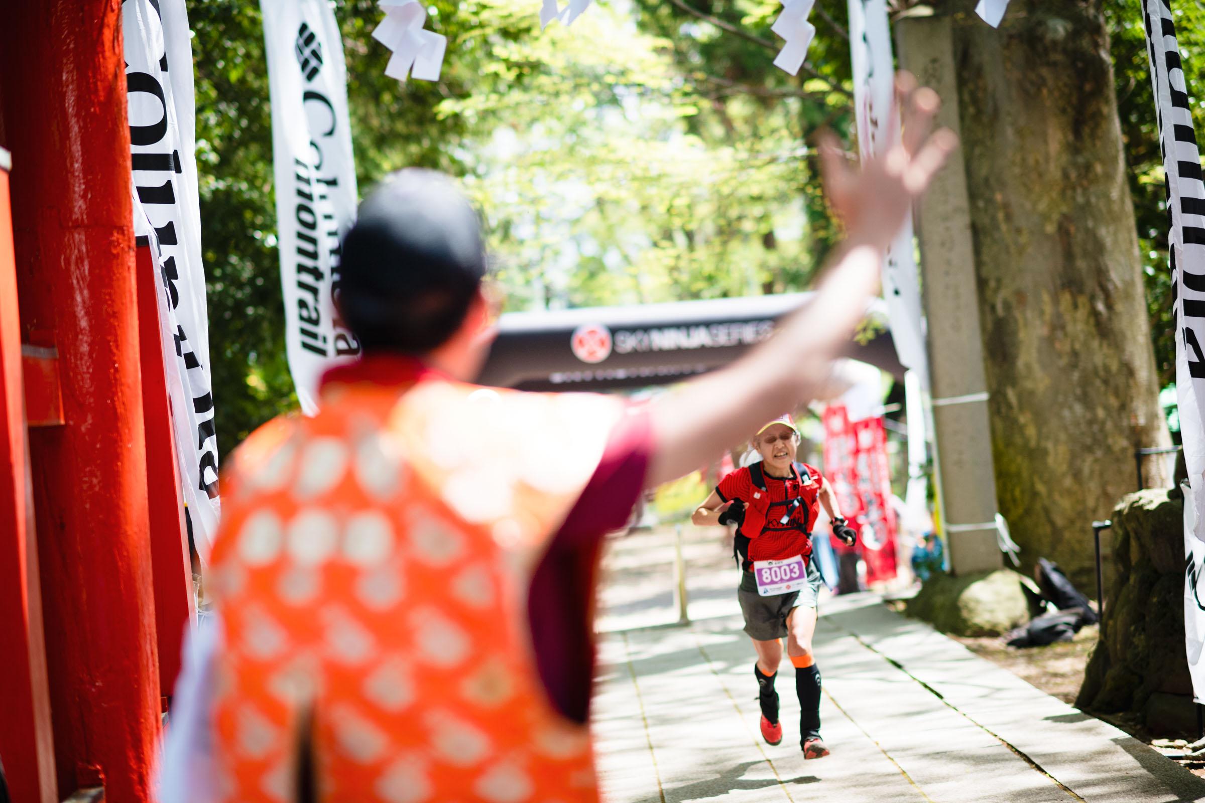 レジェンド・須藤は5位!! ©UEDA VERTICAL RACE