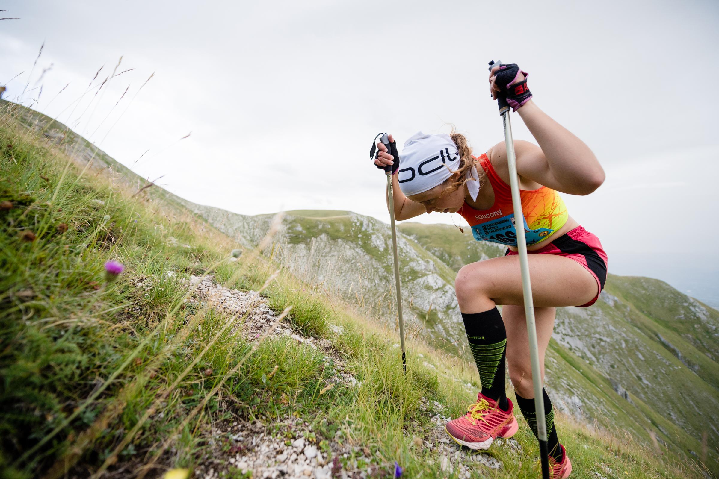 SKIMO(山岳スキー)のジュニアチャンピオンのエカテリーナも初参戦 ©NAGI MUROFUSHI