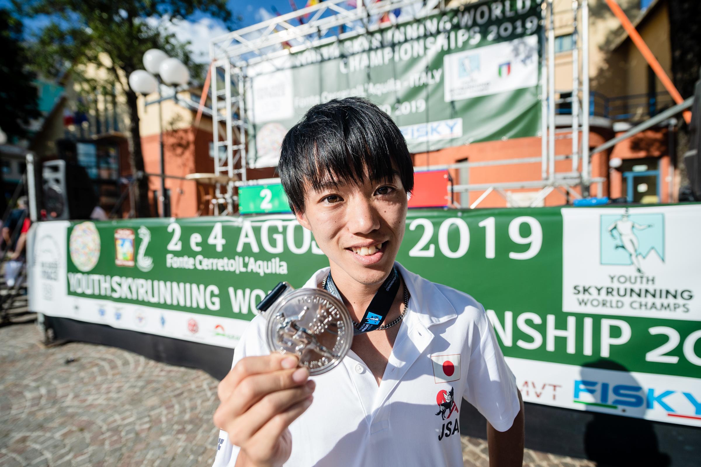 銀メダルを獲得した山田 ©NAGI MUROFUSHI