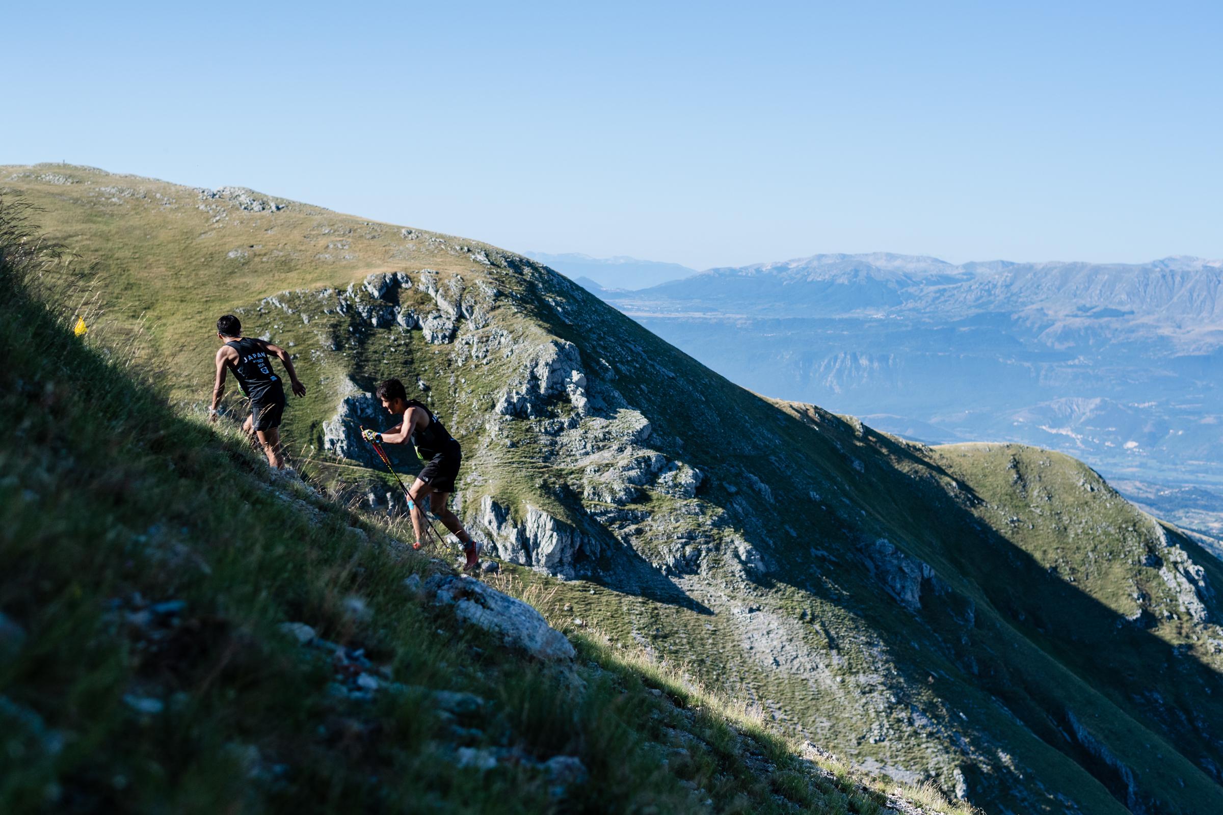 スカイランニングという名称は山岳を空に向かって駆け登ることからきている ©NAGI MUROFUSHI