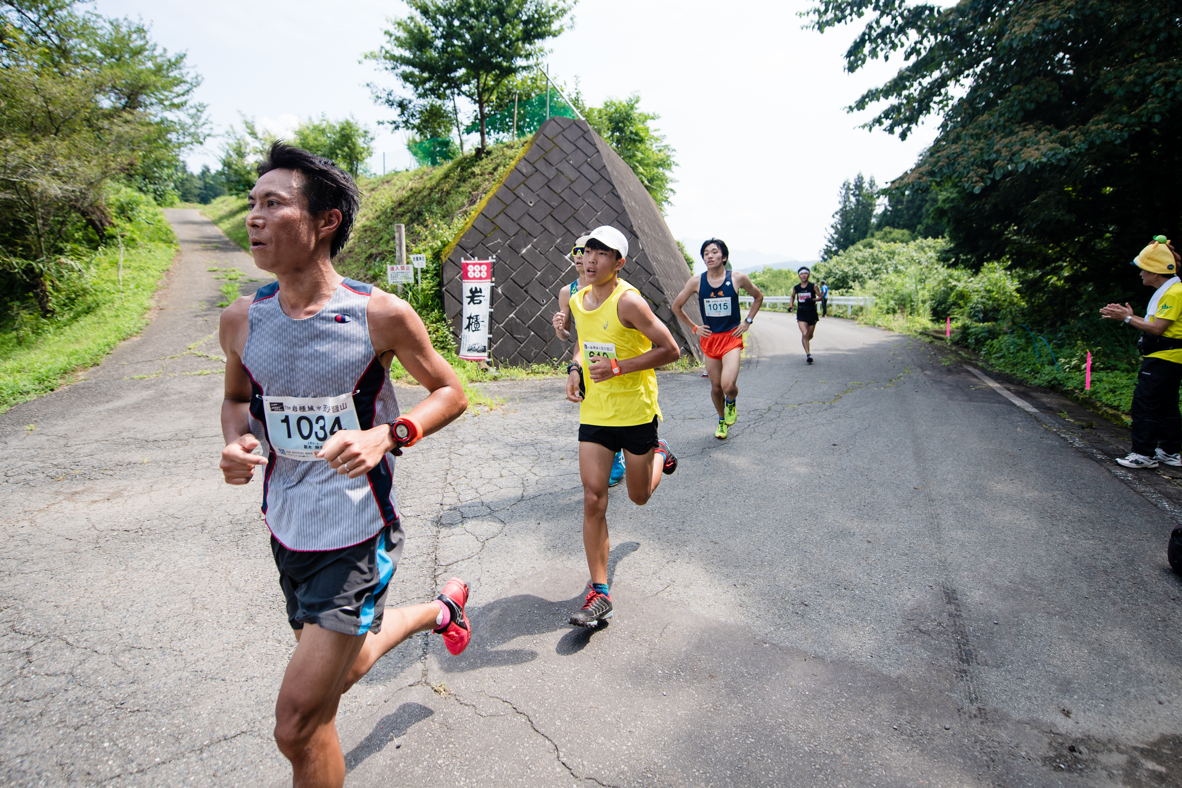 大人に負けていないチャンピオン、滝澤選手 ©THE岩櫃城忍び登山