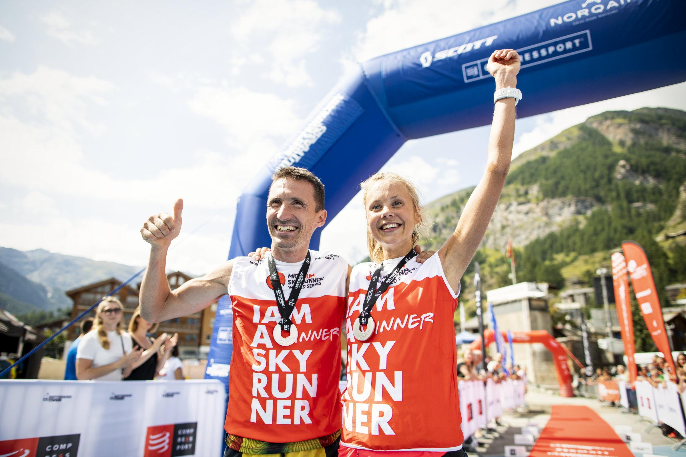 優勝したイタリアのダニエル・アントニオ―リ(左)とスウェーデンのヨアンナ・アストロム(右) ©Sho Fujimaki