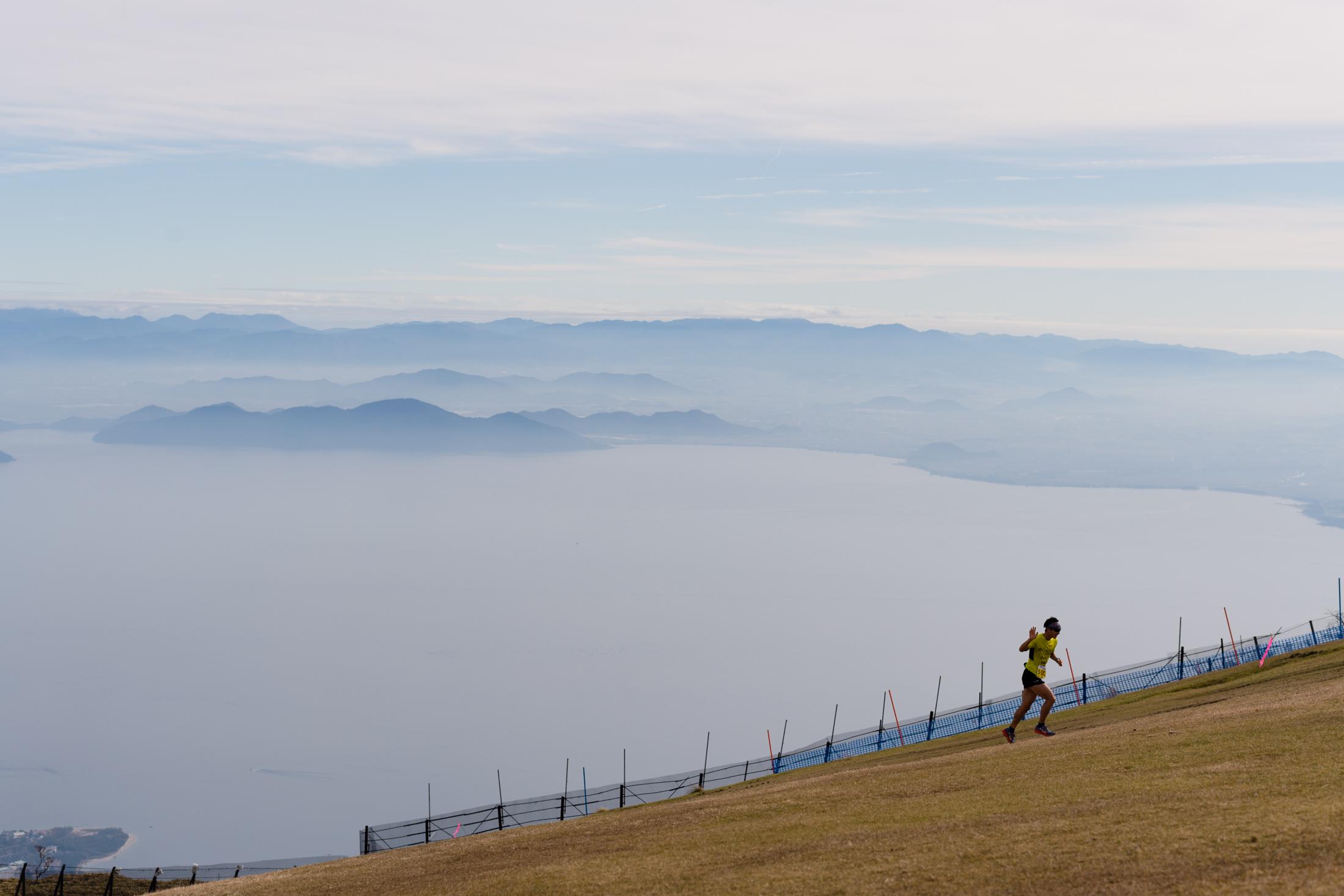 日本一のびわ湖を眼下に望む美観レース ©びわ湖バレイスカイラン