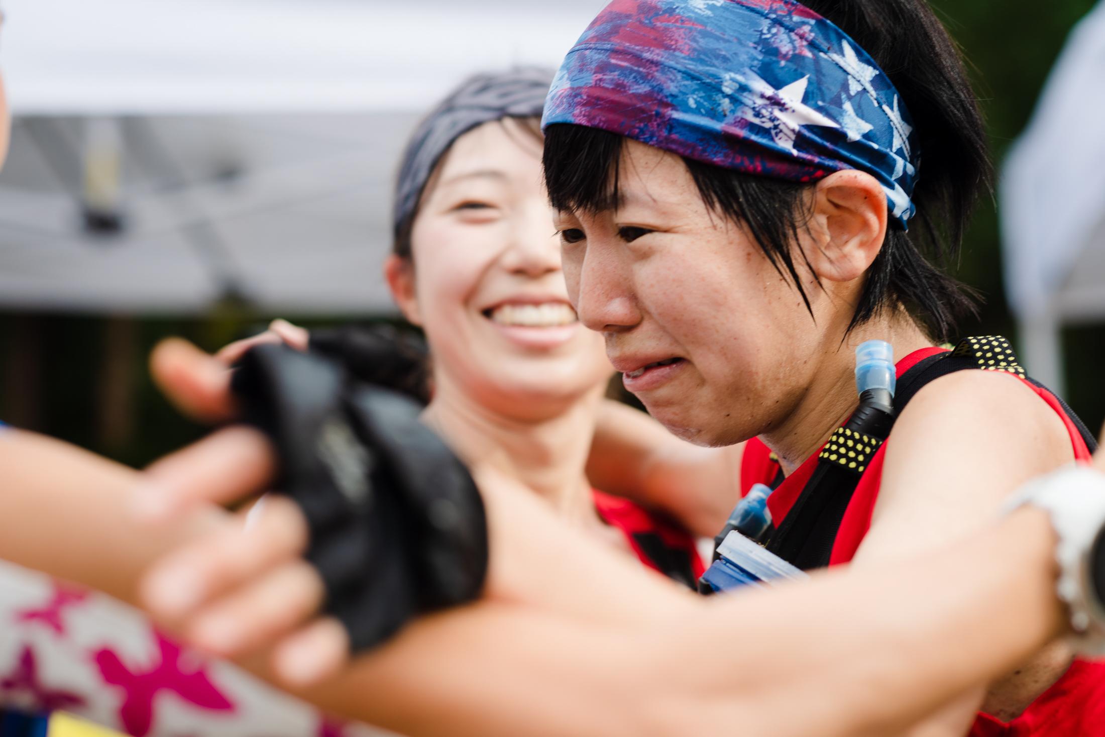 ゴール後感極まる、楠田 ©びわ湖バレイスカイラン