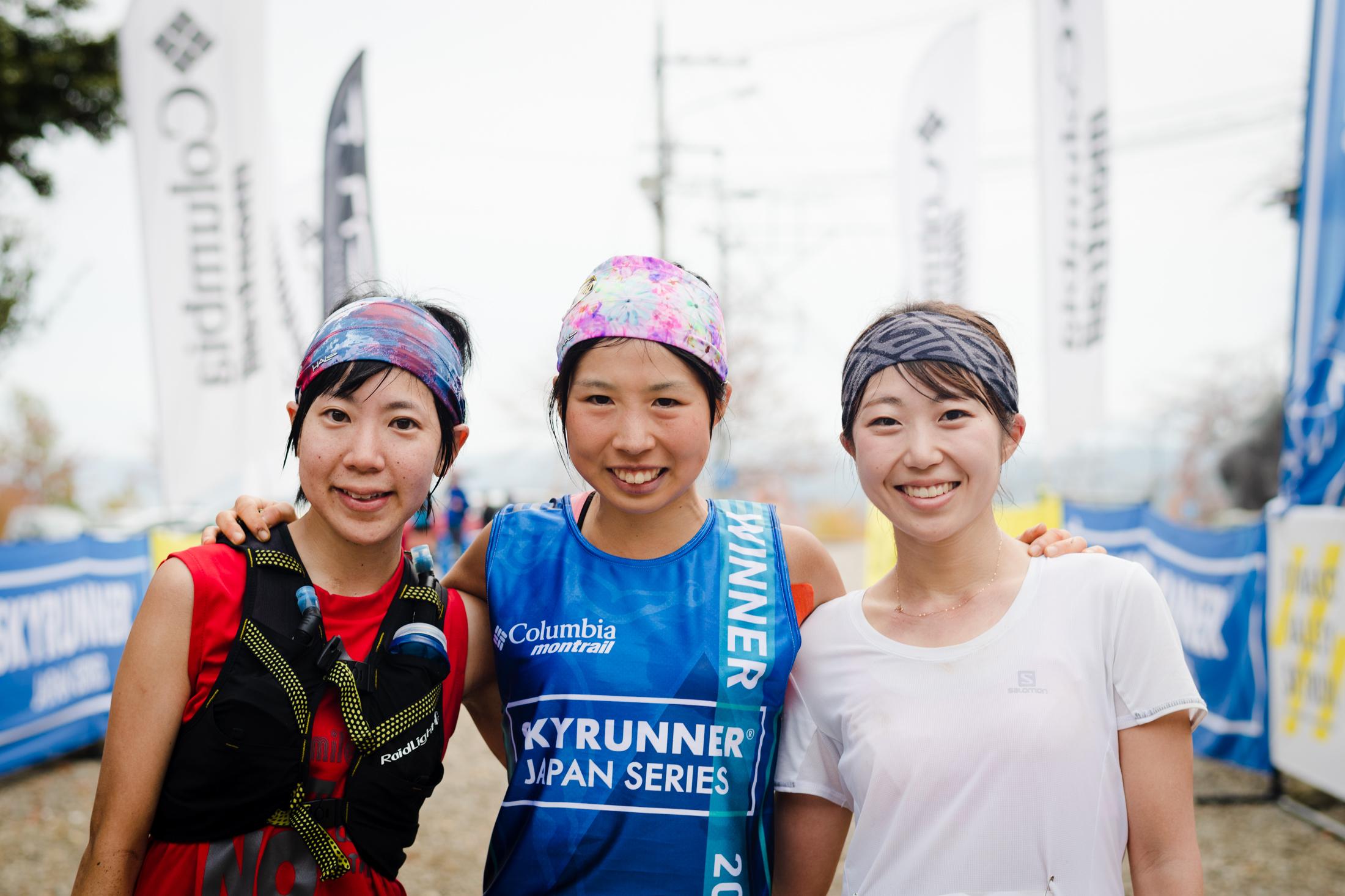 女子トップ3 ©びわ湖バレイスカイラン