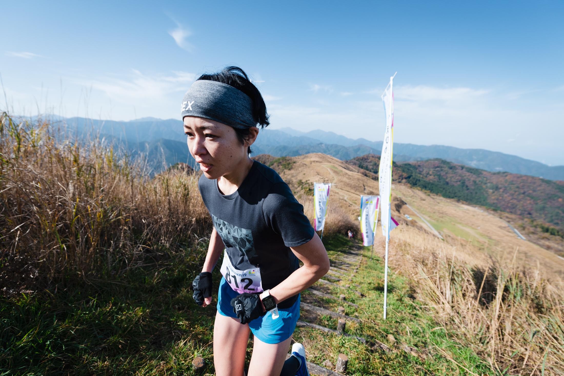 女子2位の山本 ©えひめさんさん物語/四国中央スカイラン