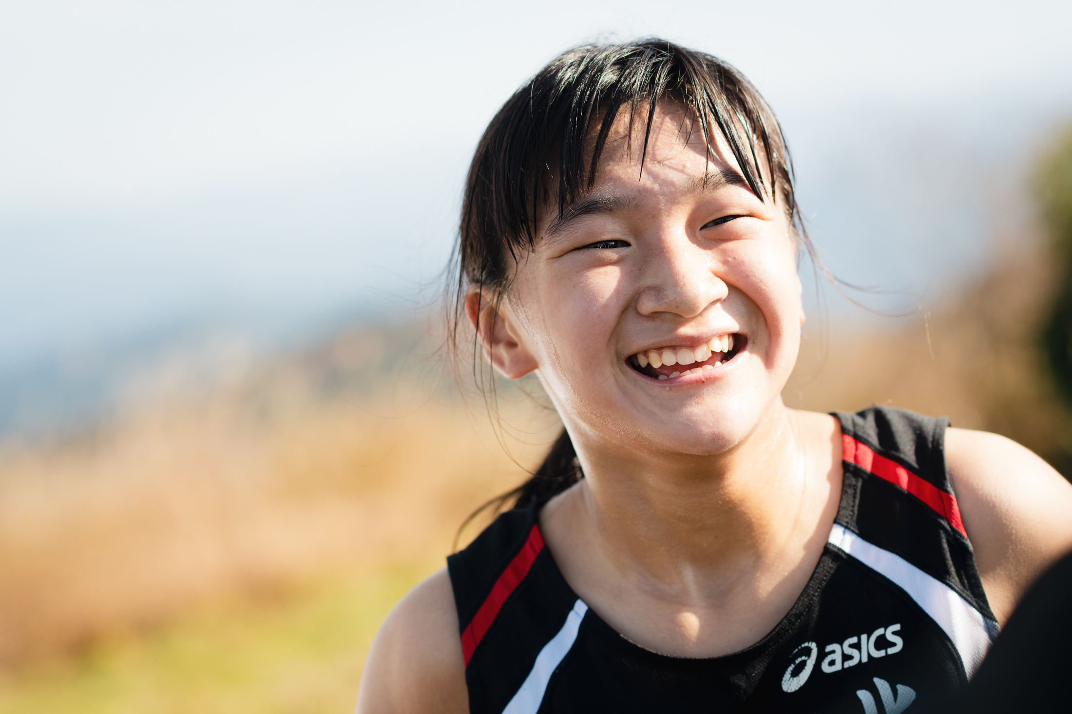 女子中学生優勝の石津 ©えひめさんさん物語/四国中央スカイラン
