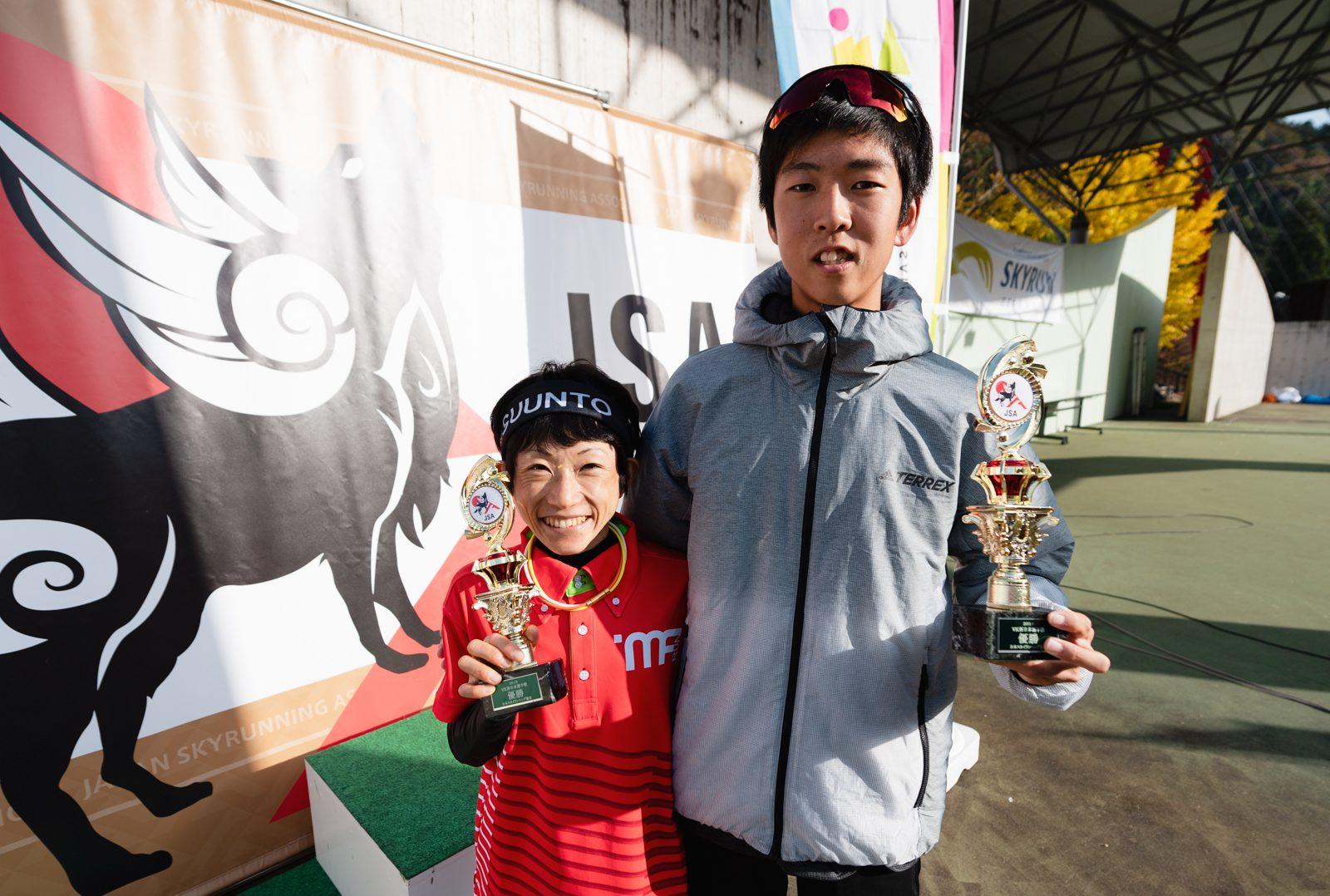 優勝した吉住と近江 ©えひめさんさん物語/四国中央スカイラン