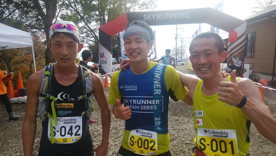 男子トップ3 ©びわ湖バレイスカイラン