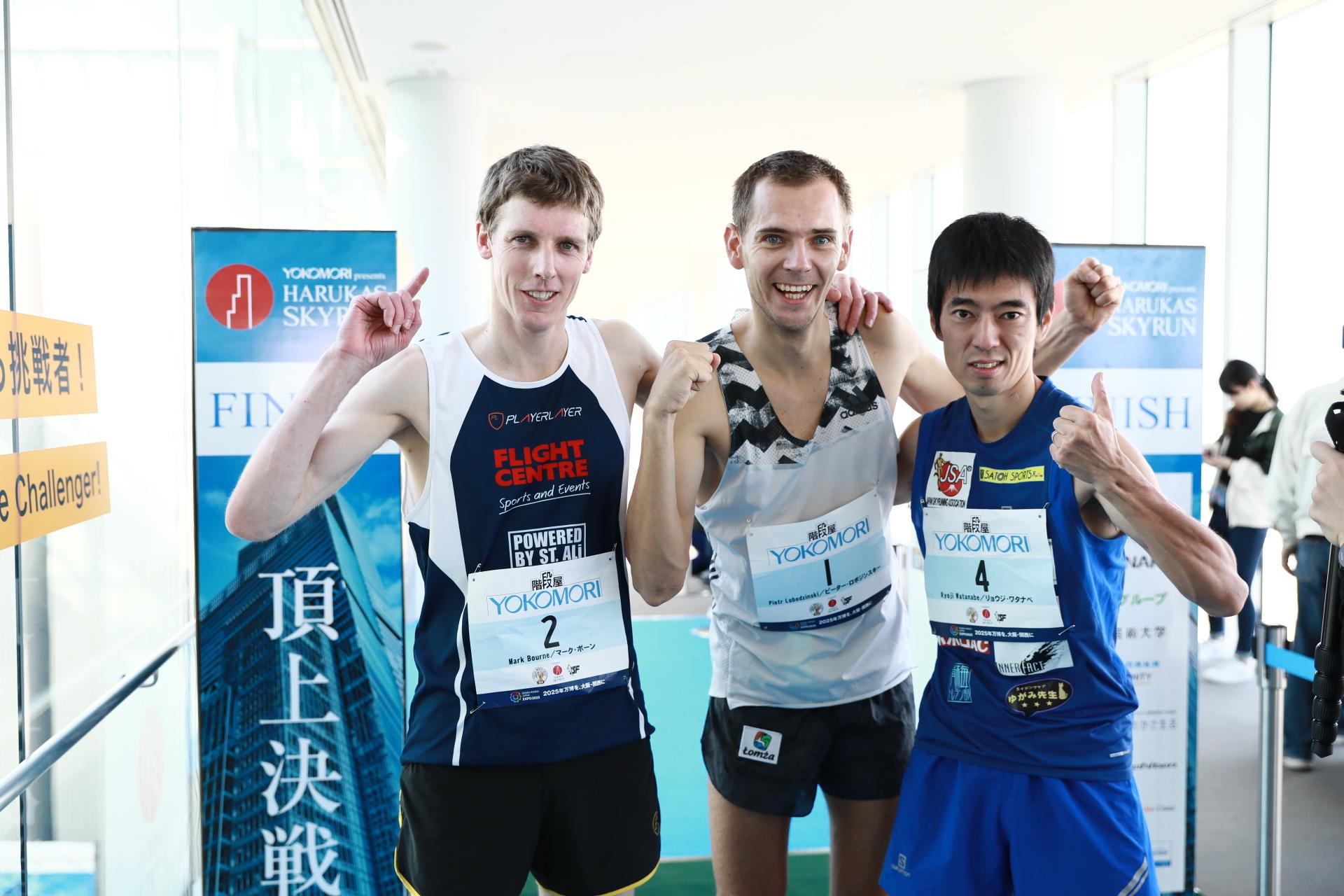 ピーター(中央)と渡辺(右)は勝てばVWC王者が確定 ©Sporting-Republic